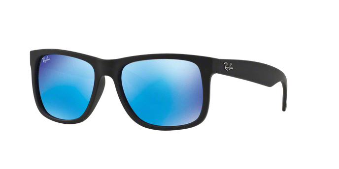 Ray Ban RB4165 JUSTIN 62255 BLACK RUBBE