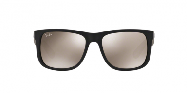 Ray Ban RB4165 JUSTIN 6225A RUBBER BLACK