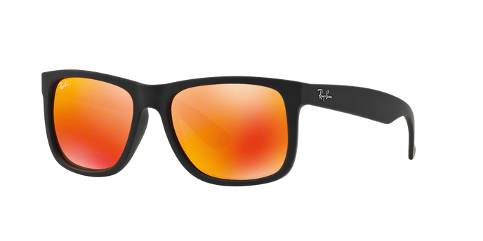 Ray Ban RB4165 JUSTIN 6226Q RUBBER BLACK