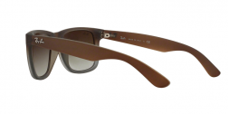 Ray Ban RB4165 JUSTIN 8547Z RUBBER BROWN ON GREY