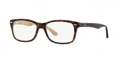 Ray Ban RX5228 2000 occhiali vista donna forma quadrata colore nero lucido