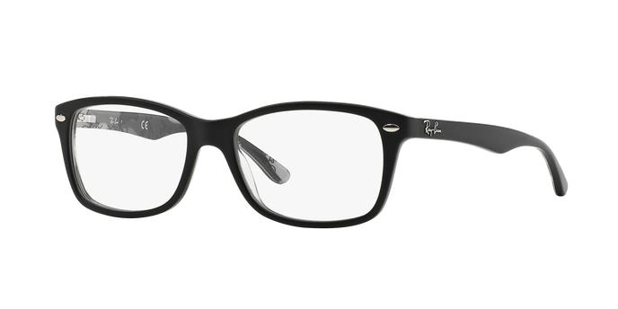 Ray Ban RX5228 5405 occhiali vista donna forma quadrata colore nero con camouflage