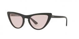 Vogue VO5211S W445 occhiale da sole donna, forma montatura cat eye colore nero e lenti rosa.