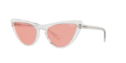 Vogue VO5211S W74584 occhiale da sole donna, forma montatura cat eye trasparente e lenti rosa.