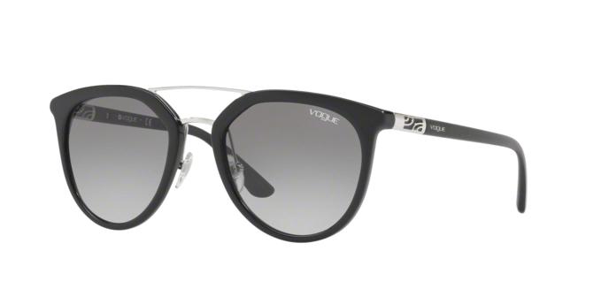 Vogue VO5164S 25596G occhiale da sole donna, forma montatura phantos colore nero e lenti grigie sfumate.