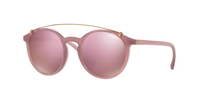 Vogue VO5161S 25355R occhiale da sole donna, forma montatura phantos colore rosa e lenti rosa a specchio.