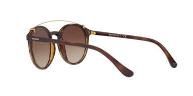 Vogue VO5161S W65613 occhiale da sole donna, forma montatura phantos colore havana e lenti marroni sfumate.