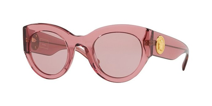 VERSACE VE4353 5234/84 occhiali da sole donna, montatura cat-eye colore rosa e lenti rosa