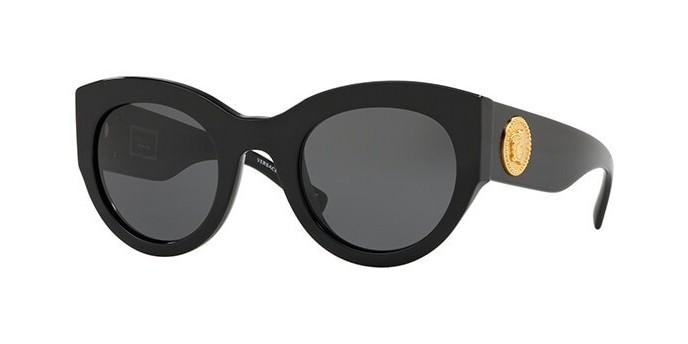 VERSACE VE4353 GB1/87 occhiali da sole donna montatura cat-eye nera e lenti grigie