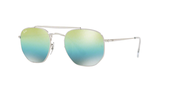 Ray Ban The Marshall RB3648 silver lenti blu/verde