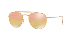 Ray Ban The Marshall RB3648 Gold Mirrored Mirrored Lenses
