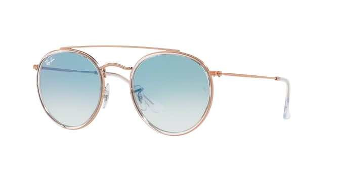Occhiali da sole tondi Ray Ban Round Double Bridge RB3647N 90683F 2018