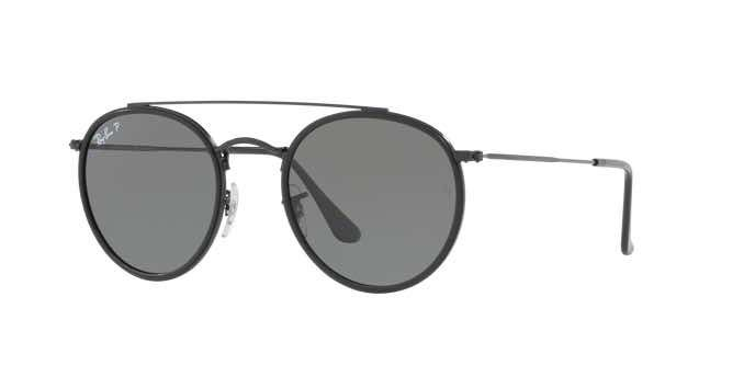 Occhiali da sole tondi Ray Ban Round Double Bridge RB3647N 001 2018