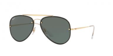 Ray Ban Blaze Aviator RB3584N 905071 Gold Frame Green Lenses