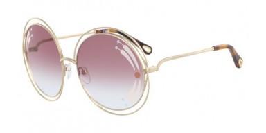 Occhiali da sole Chloé Carlina CE114SRI 835 con stampa sulle lenti