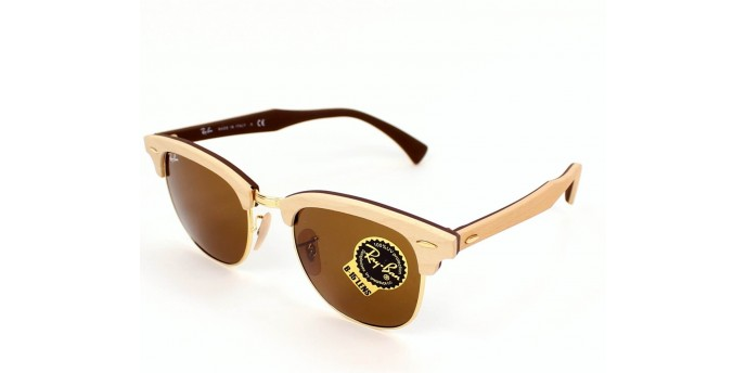 Ray Ban RB3016M CLUBMASTER (M) in legno